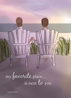 Summer - My Favorite Place - Cards for Couples - Cards- Anniversaries - Love Cards - Heather Stillufsen
