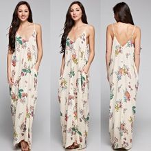 Natural Flowy Flower Cocoon Maxi