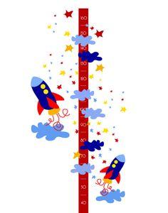 Medidores con vinilos decorativos infantiles - Imaginashop  #cohete #infantil #decoración #vinilos