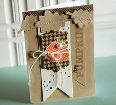 Hey Pumpkin Card by Danielle Flanders for Papertrey Ink (September 2013)