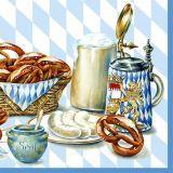 Serviette Bayrische Brotzeit blue 33x33cm 20er Pack