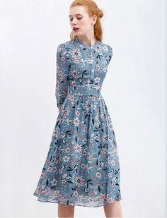 38 Best Ideas For Flowers Print Dress Summer Outfits Trendy Dresses, Modest Dresses, Cute Dresses, Vintage Dresses, Beautiful Dresses, Casual Dresses, Summer Dresses, Summer Outfits, Party Dresses