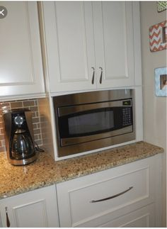 Built In Microwave Cabinet Built In Microwave Cabinet, Under Counter Microwave, Microwave Storage, Microwave In Kitchen, Microwave Oven, Kitchen Redo, Kitchen Remodel, Kitchen Appliances, Kitchens