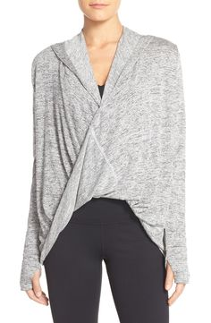 This Zella wrap hoodie is going to be a cute layering piece for the gym! Want one in every color available at the Anniversary Sale.