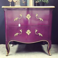 Luxurious Aubergine Sumptuous rich and luxe...Canalside Interiors' Cassis Commode in aubergine with gold highlights. Available now. OPEN 7 DAYS   38 Burrows Rd Alexandria www.canalside.com.au #furniture #canalsideint #canalsideinteriors #Sydney #Alexandria @canalsideint