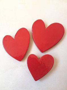 Cuore rosso, cuore in ceramica, cuore, red heart, corazon rojo di zacchetticaterina su Etsy