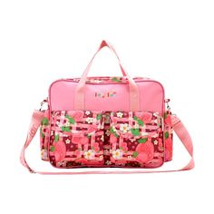 Strawberry Patch Deluxe Diaper Bag Set (5pc-set), 59.6% discount @ PatPat Mom Baby Shopping App