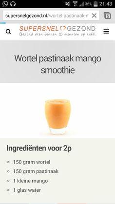 Groene smoothie wortel
