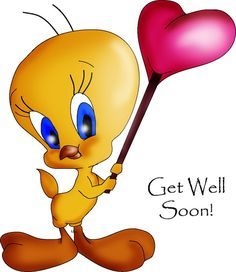 Tweety bird, my friend loves him, so I made her a get well card with him, here's the photoshop picture before I finished him.