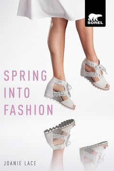 Step into spring with this deconstructed warm weather version of SOREL's iconic Joan. Soft suede rests atop the most comfortable platform wedge ever to hit the runway. Add a sassy lace closure and you've got style extraordinaire. It's true: walking in wedges never looked (or felt) this good. Shop our statement making collection today.