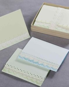 Martha shows you how to make a lovely edge-punched card.