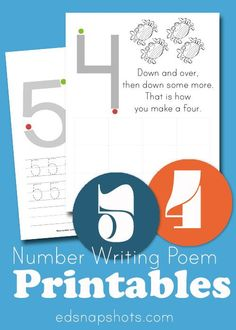 Write Numbers Printables Four and Five. Ocean themed fun for your preschooler to learn to form his or her numbers.