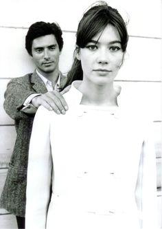 Françoise Hardy and Sami Frey - Une balle au coeur, 1965