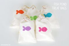 Fish Pond Game / bags made with the Silhouette (cut fabric with your Silhouette!)