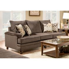 @Overstock - Add a stylish look to your living space with this sofa from Steuben. Decorative throw pillows and overstuffed seats provide quality comfort to this set.  http://www.overstock.com/Home-Garden/Steuben-Sofa/7324715/product.html?CID=214117 $784.99