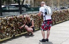 they just attached their lock on Pont Des Artes