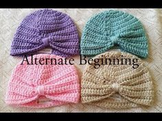 Crochet Baby Turban Pattern & Tutorial - YouTube