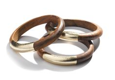 Leather Wrapped Bangles | TOMS | $22