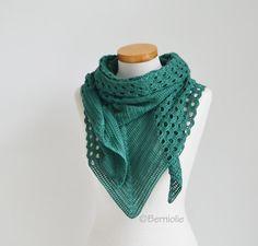 Crochet Triangle, Kerchief, Crochet Shawl, Shawls And Wraps, Etsy Shop, Knitting, Handmade, Shopping, Fashion