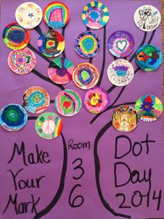 Esther Storrie on Kindergarten Art, Preschool Art, The Dot Book, Pumpkin Canvas, Art For Kids, Crafts For Kids, International Dot Day, Art Programs, Book Projects