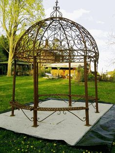 Beau Grand Wrought Iron Large Gazebo W/ Seating Wrought Iron Garden Gazebos It  Really Does Not Get Any Better Than This. Such A Wonderful Metal Structure