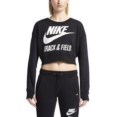 Nike Women's Track Field Crew Crop Sweatshirt   eBay