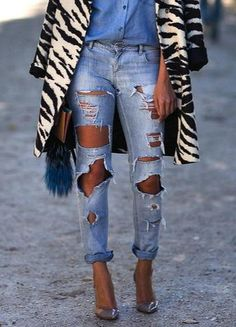 12 ways to wear ripped jeans this fall