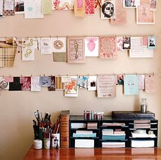 Would love to do this with hanging photos  - what kind of pins are those? bathroom-project-inspiration