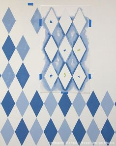 How to Stencil: Harlequin Diamond Stencils for Kids Room and Nursery – Royal Design Studio Stencils