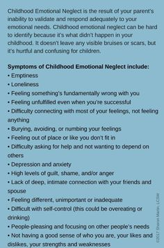 What is Childhood Emotional Neglect, and what does it do? Mental And Emotional Health, Emotional Healing, Emotional Abuse, Emotional Intelligence, Emotional Awareness, Mental Health Awareness, What Is Childhood, Abuse Quotes, Quotes Quotes