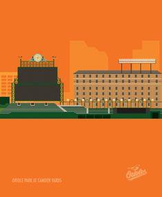 Major League Baseball Stadiums Illustrated In Minimalist Print Style