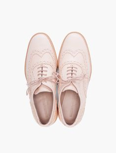 theartofskulduggery:    COMMON PROJECTS // BLUSH PLATFORM WINGTIP BROGUE