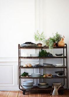 Beautiful vintage shelving unit