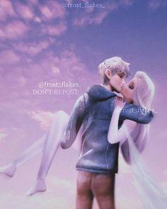 Jack Y Elsa, Jack Frost And Elsa, Disney Crossovers, Disney Movies, Disney Characters, Disney Frozen Olaf, Elsa Frozen, Jelsa, Elsa Anime
