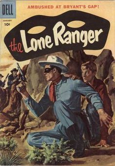 Lone Ranger cover-Ambush At Bryants Gap VF Comic Book Covers, Comic Books, Old Western Towns, The Lone Ranger, Nostalgia, Native American Photos, Love At First Sight, Vintage Ads, Sports And Politics