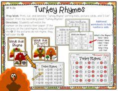 Kindergarten activities for November!