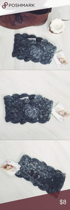 Knit Floral Headband Beautiful ombré Knit with a cute flower on the front and button detailing on the back. A loose weave-perfect for all cool weather months! Brand new. Never used. Accessories Hair Accessories