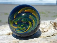 MIB Fumed Implosion Vortex Marble by CopiousGlass on Etsy