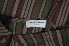 Dries Van Noten Small Silk Striped Top