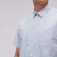 A pared-back piece for the season, this short-sleeved shirt is cut from a cotton and linen mix and features a horizontal stripe: http://www.jigsaw-online.com/product/horizontal-stripe-short-sleeved-shirt/J29535_BL114?utm_source=Social&utm_medium=Pinterest&utm_campaign=StripeShirt #JigsawMenswear #SS16 #stripes #linen #mensstyle