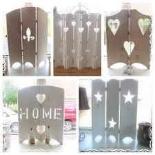 Afbeeldingsresultaat voor raamluiken binnen Dremel Projects, Home Projects, Wooden Crafts, Diy And Crafts, Recycled Wood, Vintage Shabby Chic, Creative Home, Cottage Chic, Pallet Furniture
