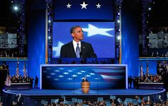 """President Barack Obama addresses the Democratic National Convention in Charlotte, on September 6, 2012"" -- The Atlantic"