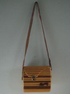 Vintage Wood Purse//handbag//shoulder bag by midtownmommy on Etsy