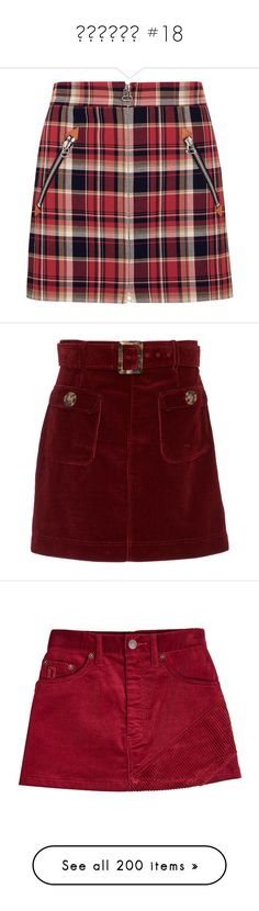 """ṡҡıяṭṡ #18"" by booknerd1326 ❤ liked on Polyvore featuring skirts, mini skirts, bottoms, plaid mini skirt, red tartan skirt, short plaid skirt, red short skirt, burgundy, burgundy skirt and belted skirt"