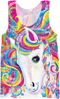 Lisa Frank Majesty Tank Top! Cute Unicorn Tank / Shirt! Orders yours now.  https://www.rageon.com/products/majesty-tank-top-1?aff=HcrD lisa frank clothing, posters, shirts, stickers, coloring books, supplies, pants, and art!