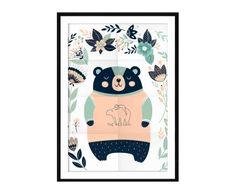 Cuadro Bear, multicolor - 50x70 cm