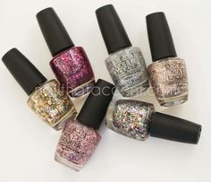 OPI Spotlight On Glitter Collection Swatches and Review