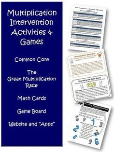 Common Core Multiplication Intervention Super Bundle of Activities. Over 50 pages to use with your grades 3-5 students to help them master the multiplication facts!