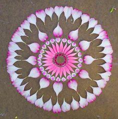 The Flower Mandalas,creations of Kathy Klein