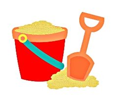 Sand Pail with Shovel by ScrapCutsbyJudy on Etsy
